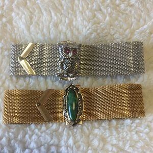 Sarah Coventry vintage mesh bracelet lot